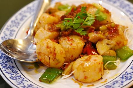 Scallops with Sauce Chinese style