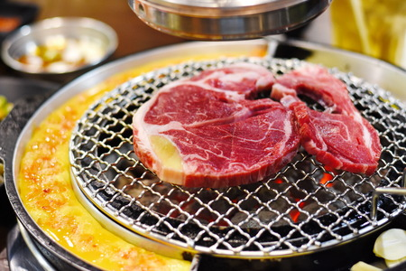 delicious meat grilled Korean style Stock Photo