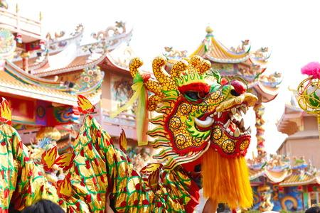 Chinesischer Drachen- und Löwentanz