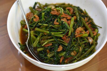 Stir-Fried Chinese Morning Glory thai food