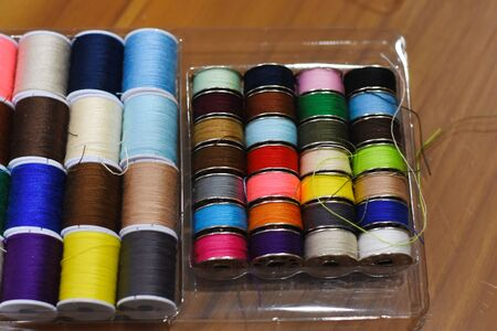 colorful of Sewing thread beautiful Banque d'images