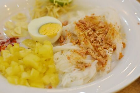 Thai Rice Noodle with Pineapple and Coconut Milk