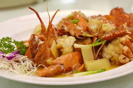 lobster fried with gravy chinese food