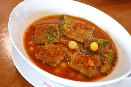 Sour Curry with Vegetable Omelet and fish egg