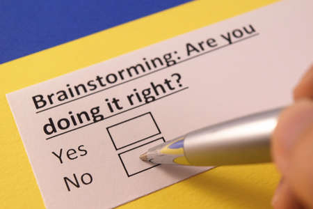 Brainstorming: Are you doing it right? Yes or no?