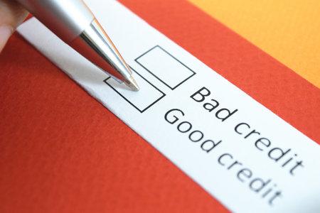 Bad credit or Good credit? Good credit.