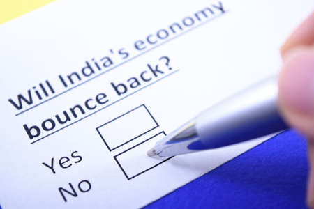 Will India's economy bounce back? Yes or no? 版權商用圖片
