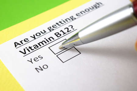 Are you getting enough Vitaimin B12? Yes or no? Stock fotó