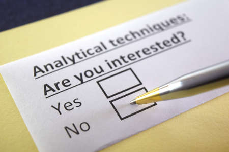 One person is answering question about analytical techniques.