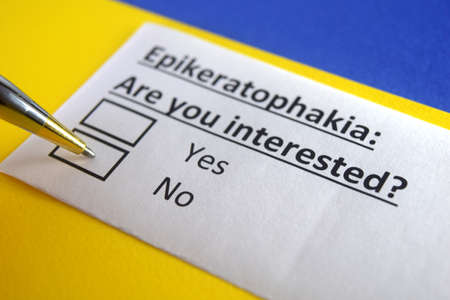 One person is answering question about epikeratophakia.