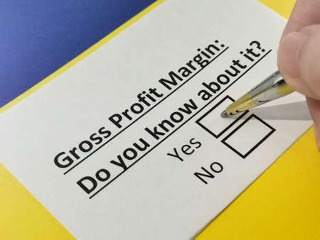One person is answering question about gross profit margin.