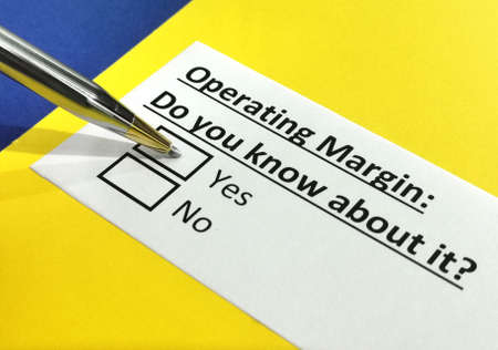 One person is answering question about operating margin.