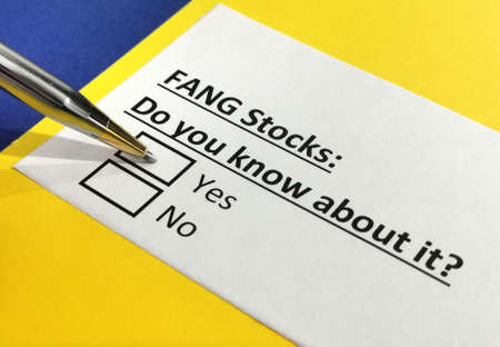 One person is answering question about FANG stocks.