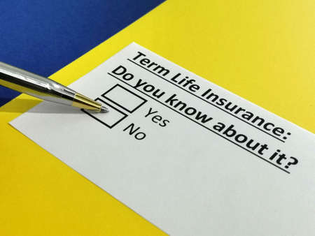 One person is answering question about term life insurance.