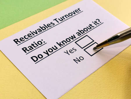 A person is answering question about receivables turnover ratio.