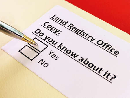 One person is answering question about land registry office copy.