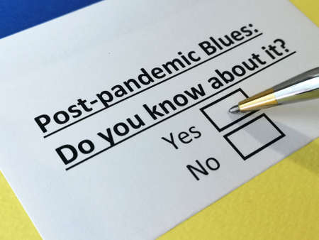 One person is answering question about post-pandemic blues.