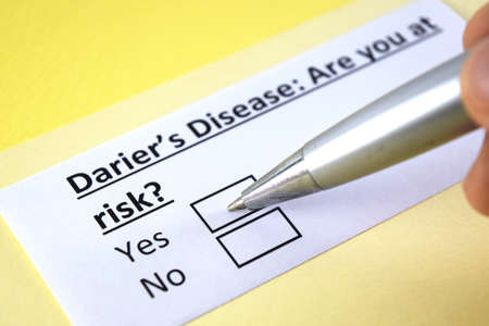 One person is answering question about Darier's disease.