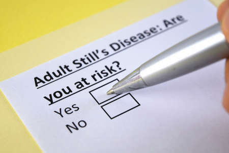 One person is answering question about adult still's disease.