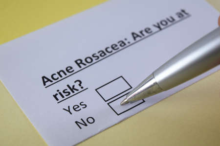 One person is answering question about acne rosacea.