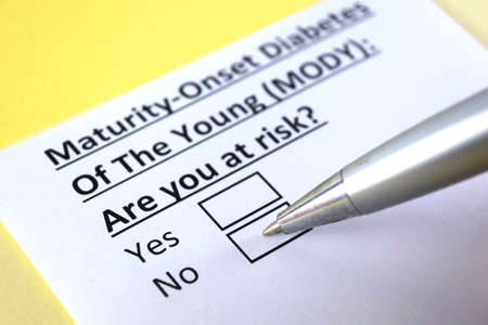 One person is answering question about maturity onset diabetes of the young (MODY).