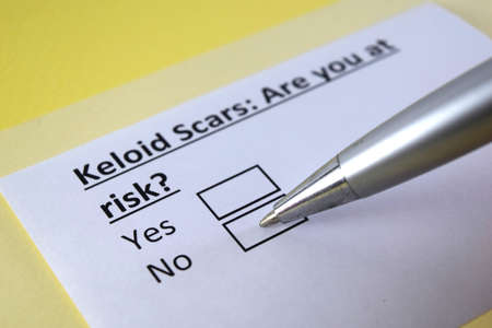 One person is answering question about keloid scars.