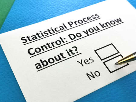 One person is answering question about statistical process control.
