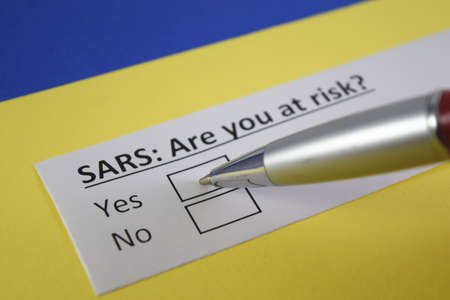 One person is answering question about SARS.