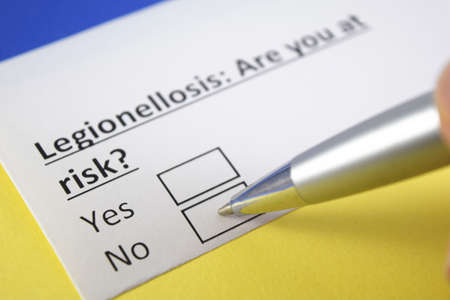 One person is answering question about legionellosis.