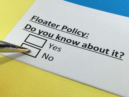 One person is answering question about floater policy.