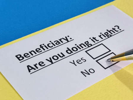 One person is answering question about beneficiary.