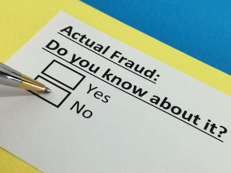 One person is answering question about actual fraud.