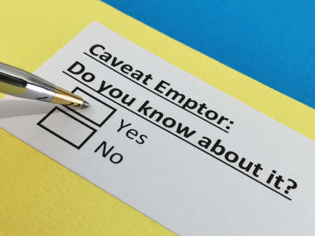 One person is answering question about caveat emptor.
