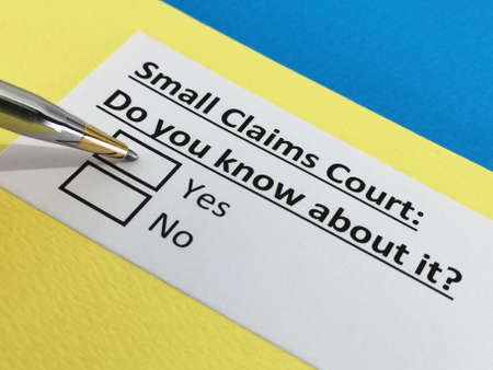 One person is answering question about small claims court.