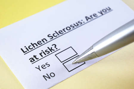 One person is answering question about lichen sclerosus.