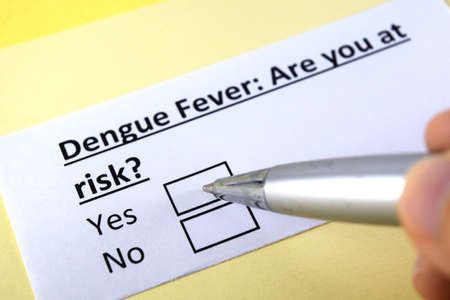 One person is answering question about dengue fever.