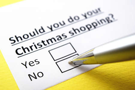 One person is answering question about christmas shopping.