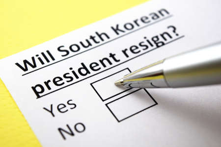 One person is answering question about south korean president.