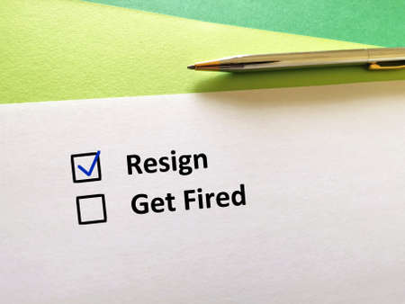 One person is answering question. He chooses to resign.