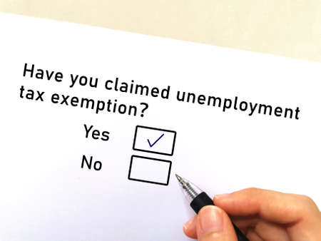 One person is answering question about taxation. He has claimed unemployment tax exemption