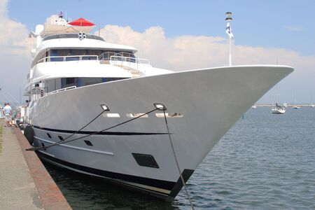 millions: Mega Yacht Stock Photo