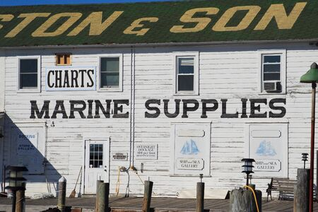chandler: Fishing village marine store building