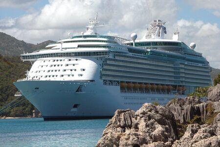 Anchored Cruise Ship