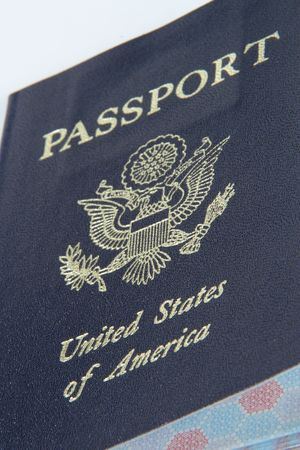 credentials: U.S. Pasport Stock Photo