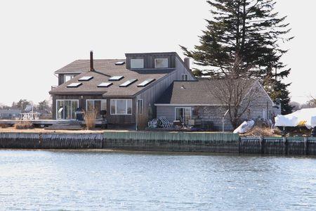 waterfront property: Waterfront Property Stock Photo