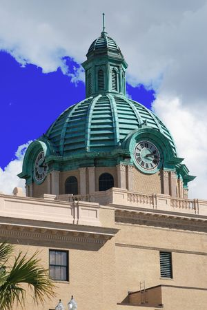 misdemeanor: Southern county court house copper dome