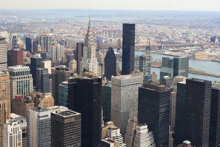 Panoramic view of the New York City skyline