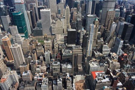 Panoramic view of the New York City skyline From the top of the empire state building