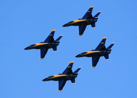 Blue angels F18 hornet precision flying team Stock fotó