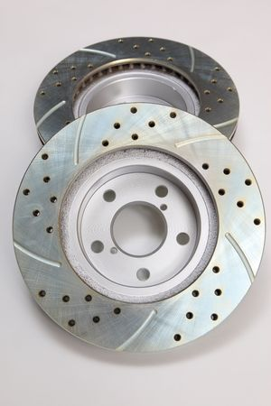New drilled and slotted brake rotors